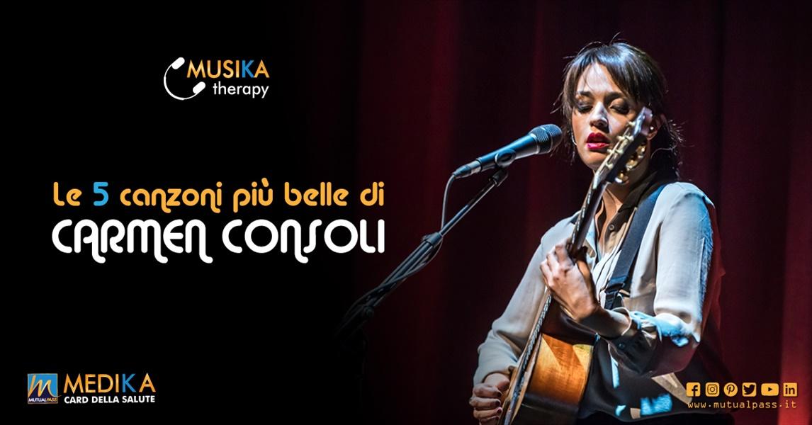 Le 5 canzoni più belle di Carmen Consoli