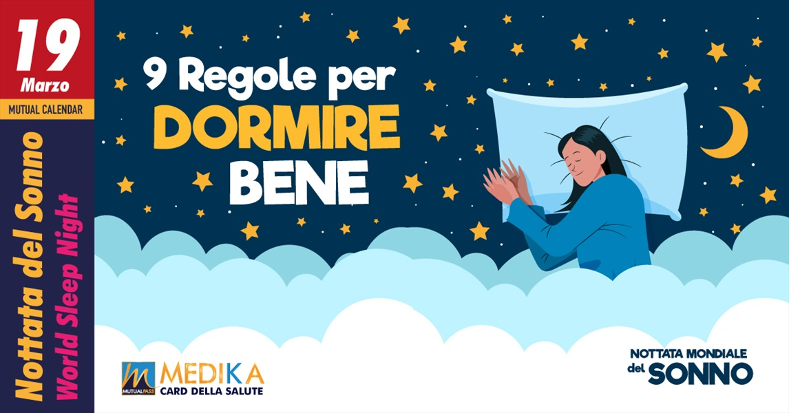 9 regole per dormire bene - Nottata Mondiale del Sonno